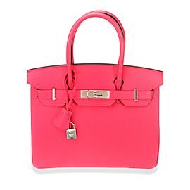 Hermès Rose Extreme Epsom Birkin 30 with Palladium Hardware