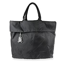 Prada Black Nylon Reversible Tote Bag