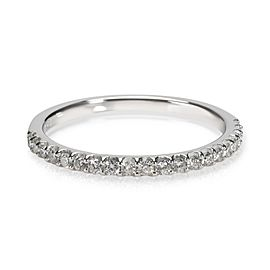Micro Pave Diamond Wedding Band in 14K White Gold 0.20 CTW