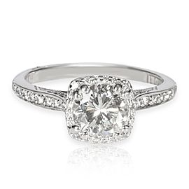 Tacori Diamond Engagement Ring in 18K White Gold IGI Certified I-J SI1-S2