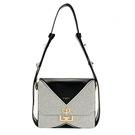 Givenchy Black Canvas & Leather Medium Eden Bag