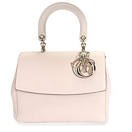 Dior Pale Pink Pebbled Leather BeDior Small Flap Bag