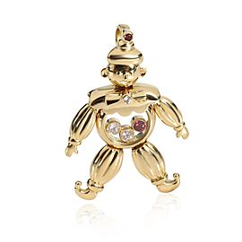 Chopard Happy Clown Pendant with Diamonds & Rubies in 18K Yellow Gold 0.12