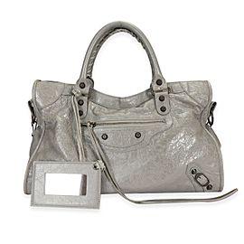 Balenciaga Gris Pyrite Lambskin Classic City Bag