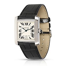Cartier Tank Francaise W5001156 Unisex Watch in 18kt White Gold