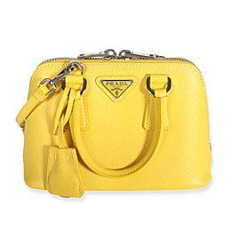 Prada Soleil Saffiano Leather Mini Promenade Bag