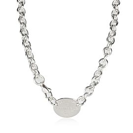 Tiffany & Co. Return to Tiffany Oval Link Necklace in Sterling Silver