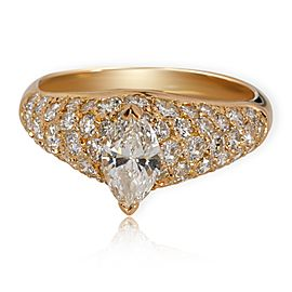 Cartier Pave Marquise Diamond Engagement Ring in 18K Yellow Gold 1.9