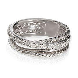 David Yurman Crossover Diamond Ring in Sterling Silver 0.18