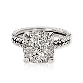 David Yurman Chatelaine Diamond Ring in Sterling Silver 0.64