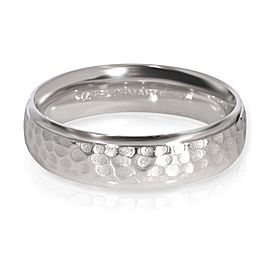 Benchmark Hammered 6mm Wedding Band in Platinum