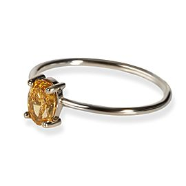 GIA Fancy Intense Orange-Yellow Oval Diamond Engagement Ring in 18KT Gold 0.51ct
