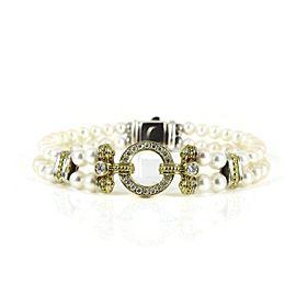 Lagos Sterling Silver .56tcw; G-H; VS2 Pearl, Diamond Bracelet