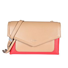 Givenchy Beige & Red Leather Duetto Crossbody Bag