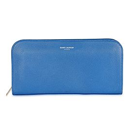Saint Laurent Royal Blue Continental Zip-Around Wallet