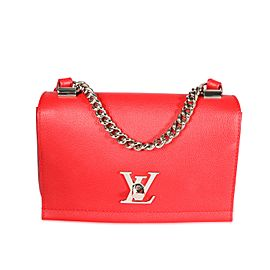 Louis Vuitton Rubis Leather Lockme II BB Bag
