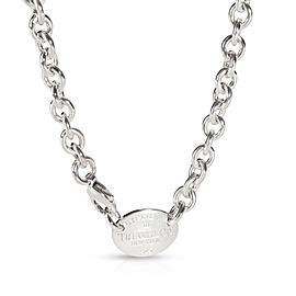 Return to Tiffany Oval Tag Necklace in Sterling Silver