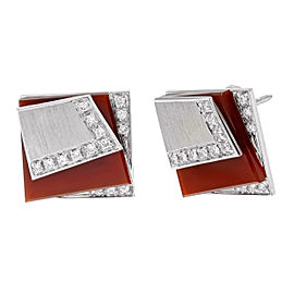 Salavetti 18K White Gold with 0.3ctw Diamonds Earrings