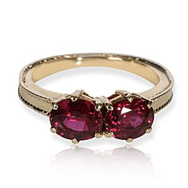 Tiffany & Co. Vintage Double Ruby Ring in 18K Yellow Gold