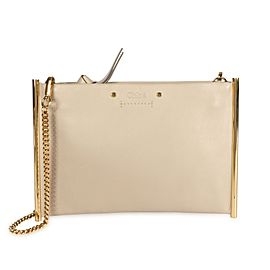 Chloé Motty Gray Leather Mini Roy Clutch