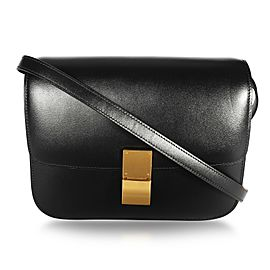 Celine Black Smooth Calfskin Classic Box Bag