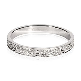 Cartier Love Diamond Ring in 18K White Gold 0.19