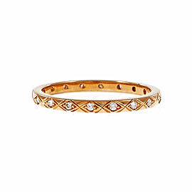 Peter Suchy 18K Rose Gold with 0.25ct. Diamond Eternity Band Ring Size 6.5
