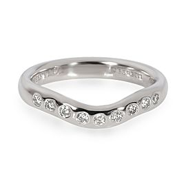 Tiffany & Co. Elsa Peretti Wave Diamond Band in Platinum 0.1