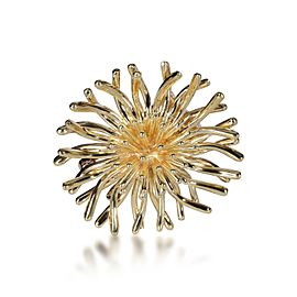 Tiffany & Co. Vintage Chrysanthemum Brooch in 14K Yellow Gold