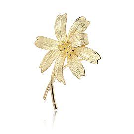 Tiffany & Co. Vintage Flower Brooch in 18K Yellow Gold
