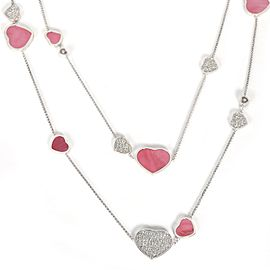 Chopard Happy Hearts Naked Hearts Foundation Mother of Pearl Necklace 4.65 CTW