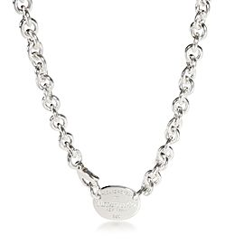 Tiffany & Co. Oval Return to Tiffany Necklace in Sterling Silver