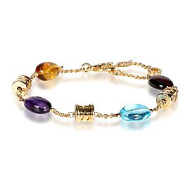 Bulgari B. Zero 1 Multi Colored Gemstone Bracelet in 18K Yellow Gold