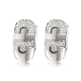 Bulgari Parentesi Diamond Earrings in 18K White Gold 0.75