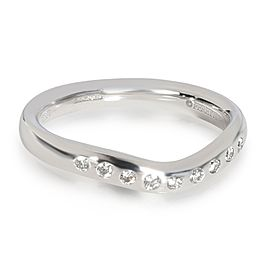 Tiffany & Co. Elsa Peretti Curved Diamond Wedding Band in Platinum 0.1