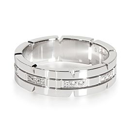 Cartier Tank Francaise Band in 18K White Gold 0.20 CTW