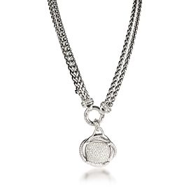 David Yurman Crossover Diamond Necklace in Sterling Silver 1.69