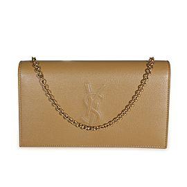 Saint Laurent Beige Leather Belle De Jour Chain Wallet