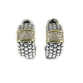 Lagos Sterling Silver .68tcw; G-H; VS2 Diamond Earrings