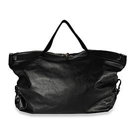 Saint Laurent Black Leather Convertible ID Weekend Bag