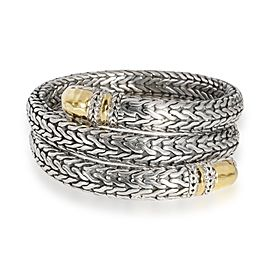 John Hardy Palu Coil Bracelet in 22K Yellow Gold/Sterling Silver