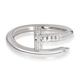 Cartier Juste un Clou Diamond Ring in 18K White Gold 0.11 CTW