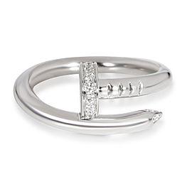 Cartier Juste un Clou Diamond Ring in 18K White Gold 0.11 CTW