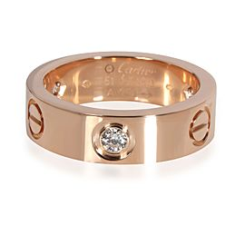 Cartier Love Diamond Ring in 18K Pink Gold 0.22 CTW