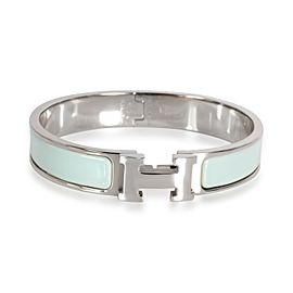 Hermès H Clic Light Blue Enamel Bracelet, Narrow