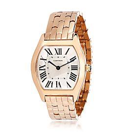 Cartier Tortue W1556366 Women's Watch in 18kt Rose Gold