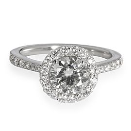 Forevermark Halo Diamond Engagement Ring in 14K White Gold L SI1 1.23