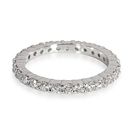 Round Cut Diamond Eternity Band in Platinum 1.00