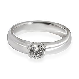 Tiffany & Co. Bezel Diamond Solitaire Ring in Platinum 0.32