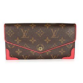 Louis Vuitton Poppy Leather & Monogram Canvas Retiro Sarah Wallet